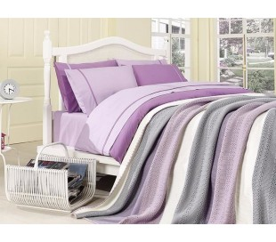 "Cotton Bedding & Blanket ""Hyacinth"""