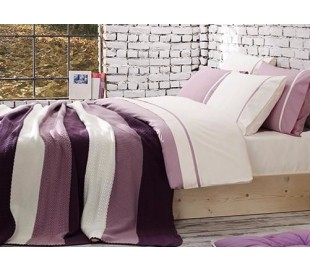 "Cotton Bedding & Blanket ""Pansies"""