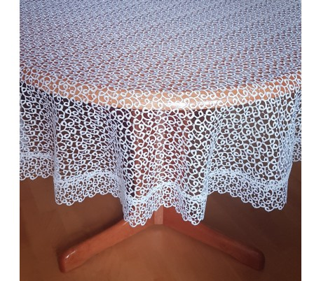 Guipure round tablecloth