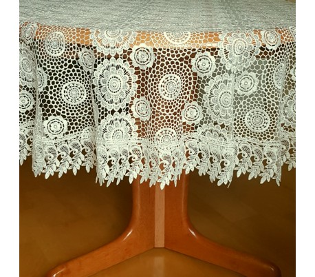 Guipure round tablecloth 150 cm