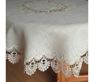 "Oval linen tablecloth ""Country"""