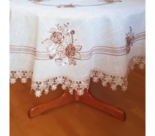"""Round tablecloth """"Floral"""""""