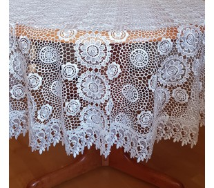Guipure round tablecloth 180cm